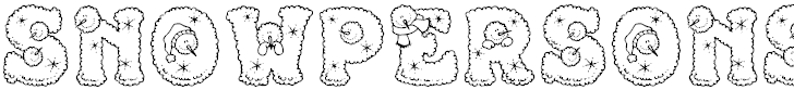 snow people font