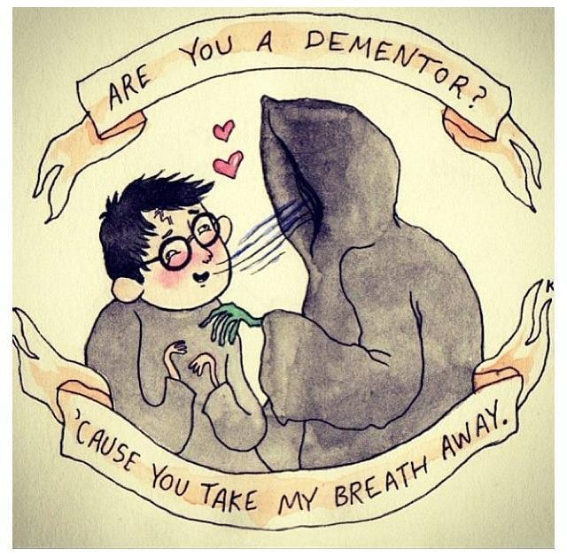 humorous harry potter valentine day card