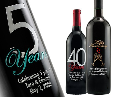 Wine Label Printing for Anniversary