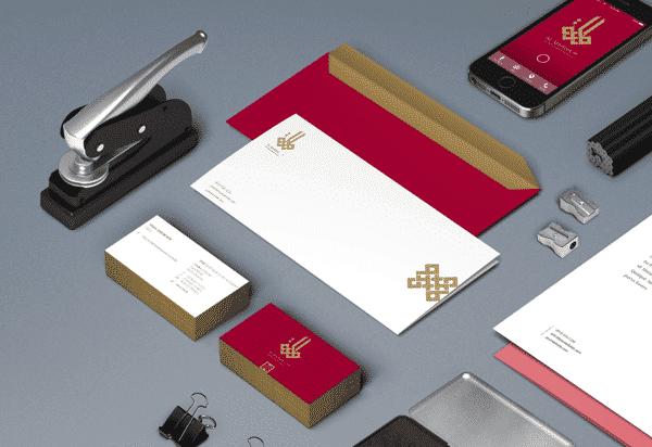 business envelopes and branding