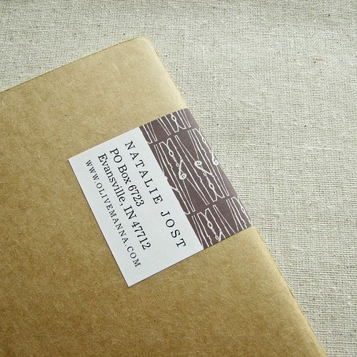 interactive mailing label