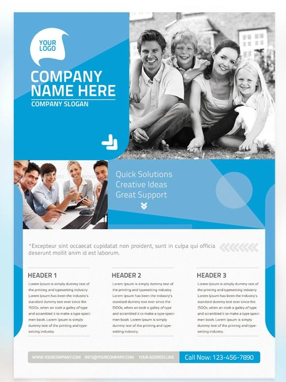 free flyer psd for family organizations