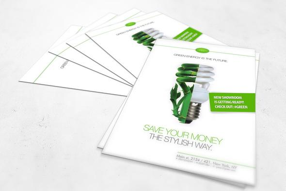 Free PSD Flyer template for green events