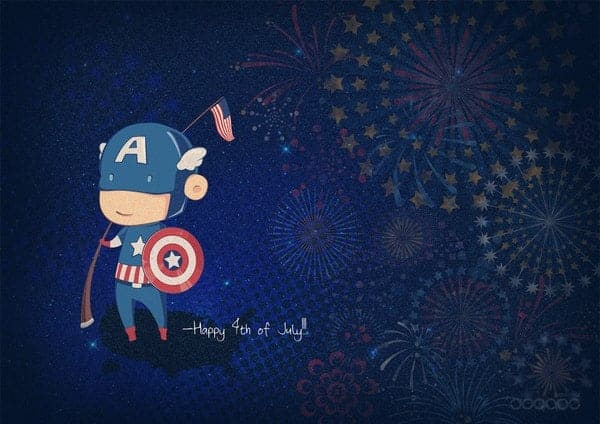 4th of july graphic design