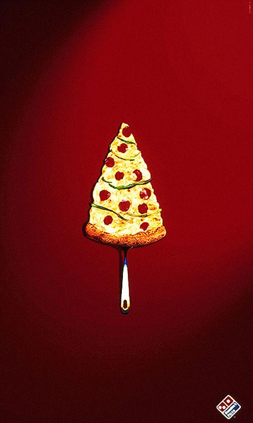 holiday print ad by domino's pizza