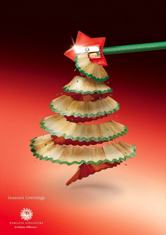 print christmas ad by publicis agency