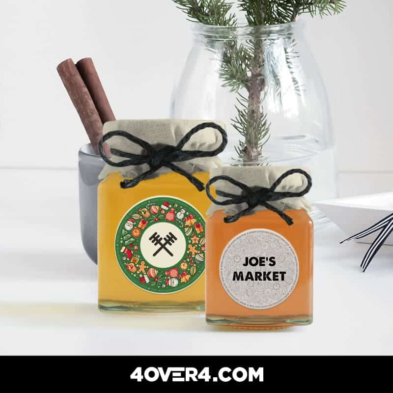 holiday product labels