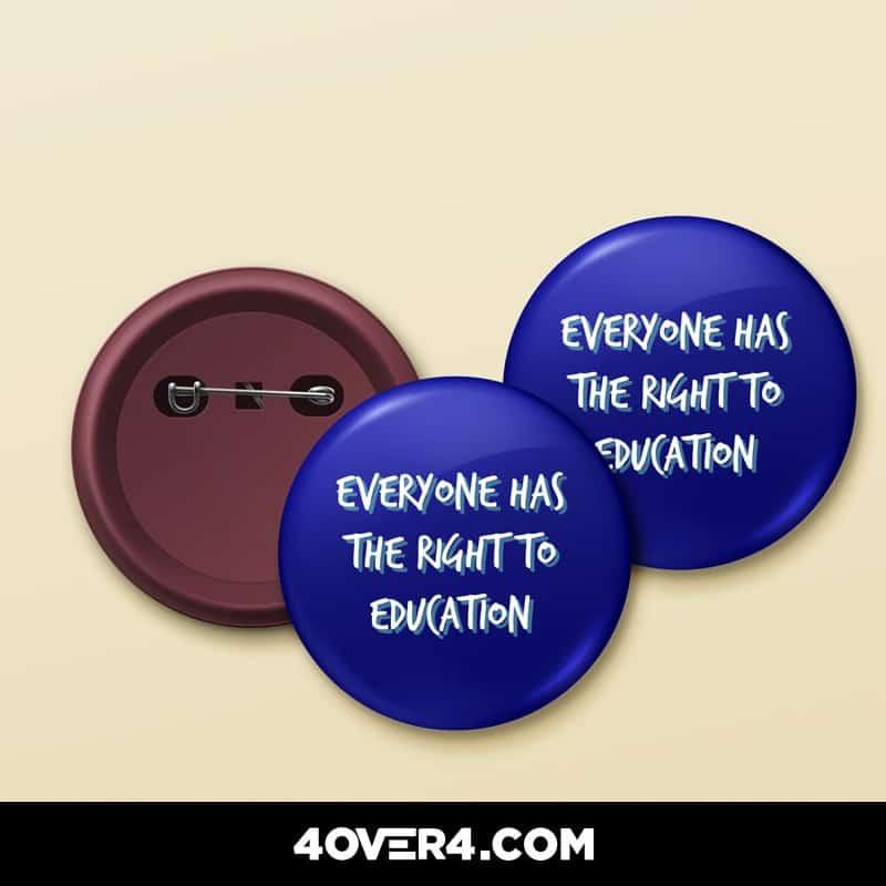 literacy day buttons