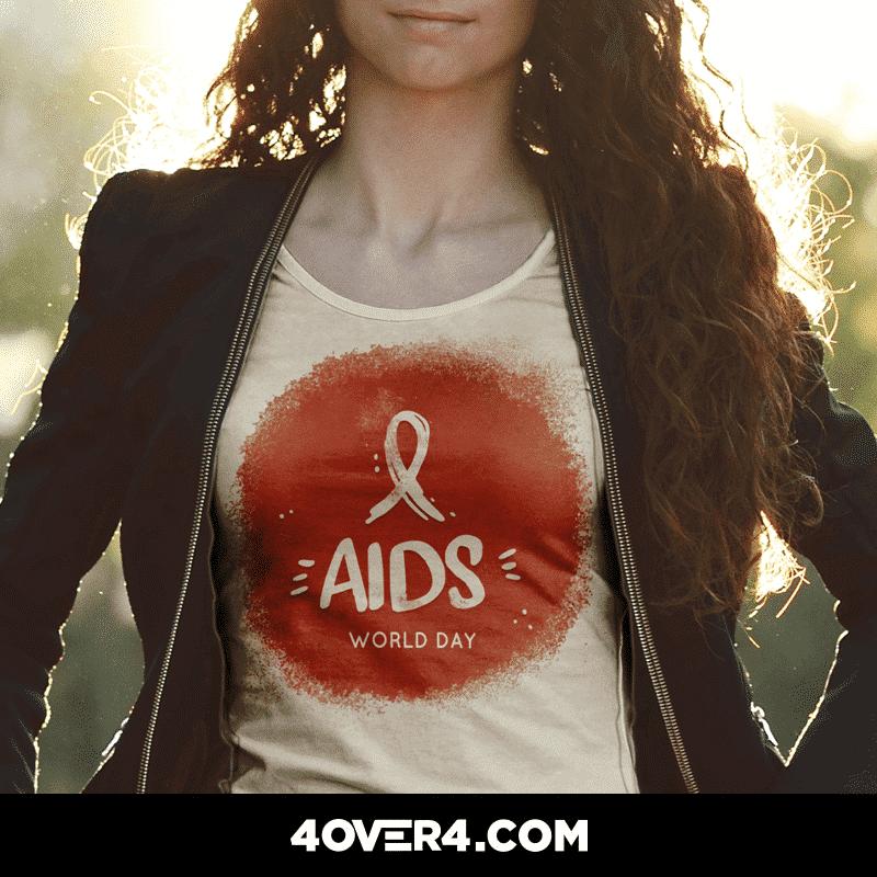 AIDS custom tshirt
