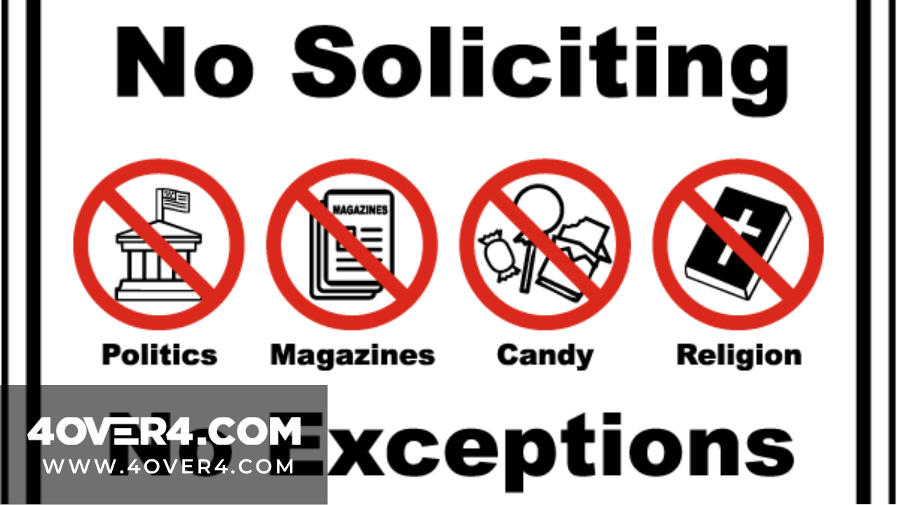 """Do the """"No Soliciting Signs"""" Really Work? Is It Legal? - Custom Printing"""
