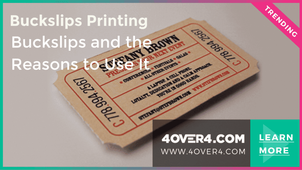 Buckslips Printing – Buckslips and the Reasons to Use It - Custom Printing