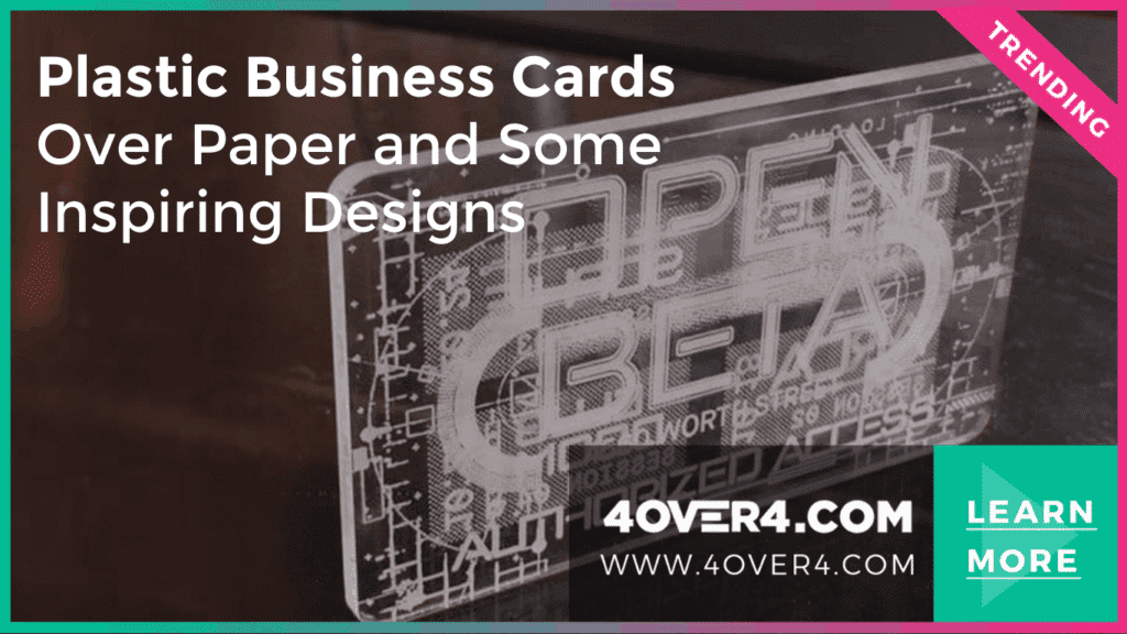 Plastic Business Cards Over Paper and Some Inspiring Designs - Business Cards