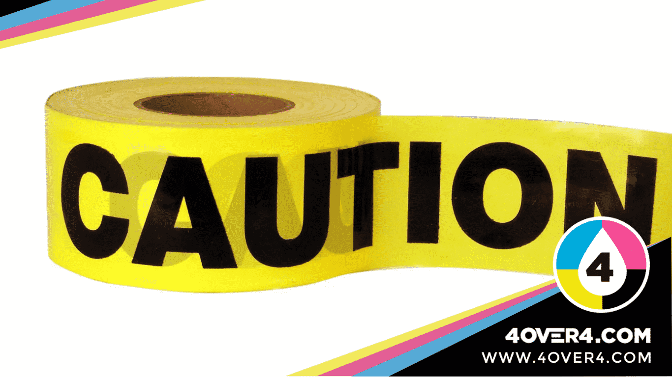 Yellow color tape to warn