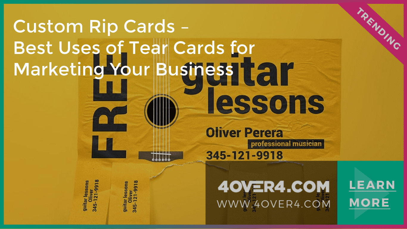 Custom Rip Cards – Uses of Tear Cards Business Promotions - Custom Printing