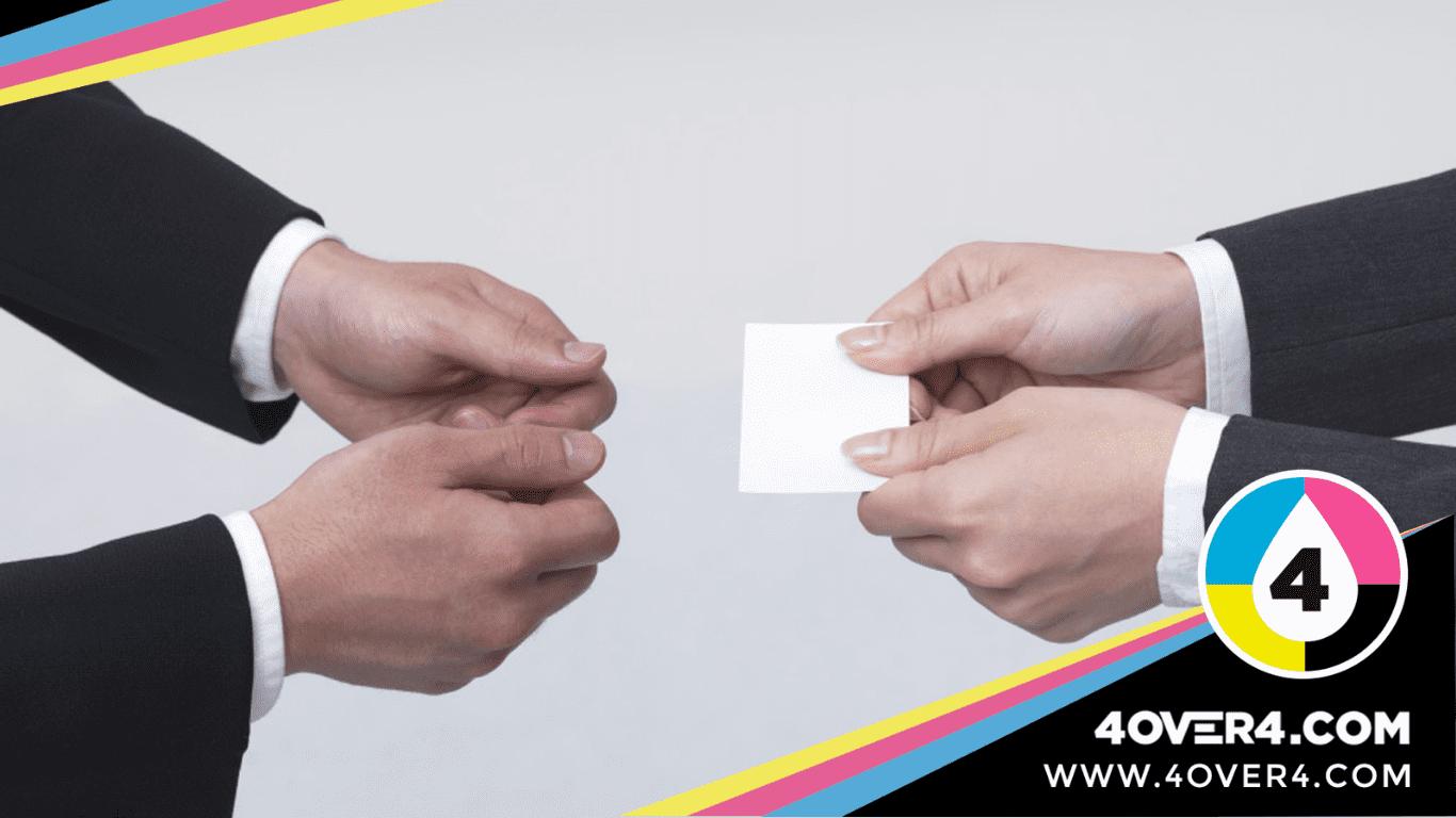 Right business card exchange etiquette