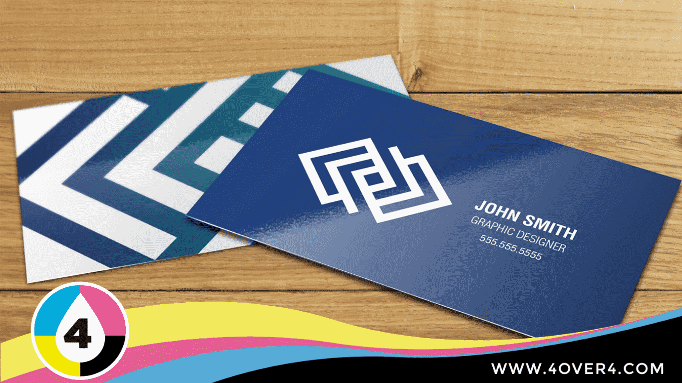 Blue color glossy cards