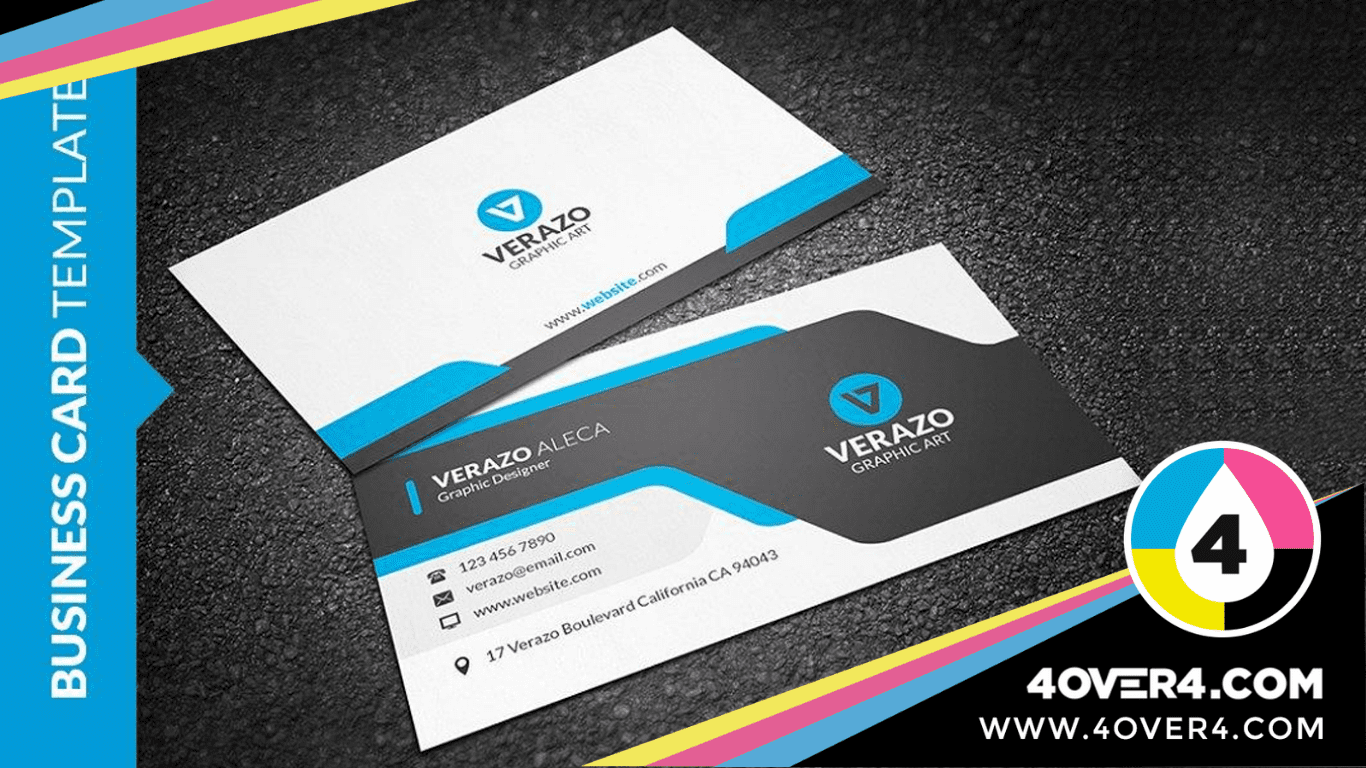 Matte finish printed back and front visiting card