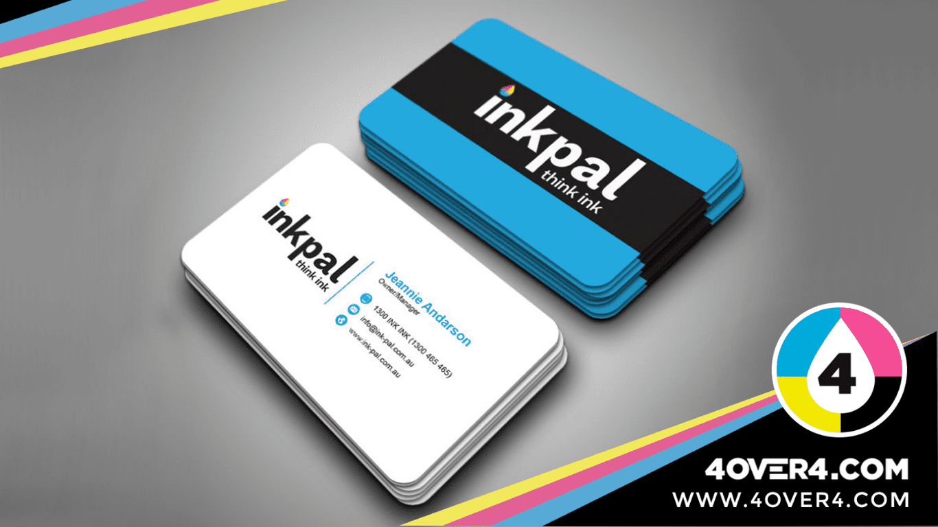 Full colored back printed and white front card