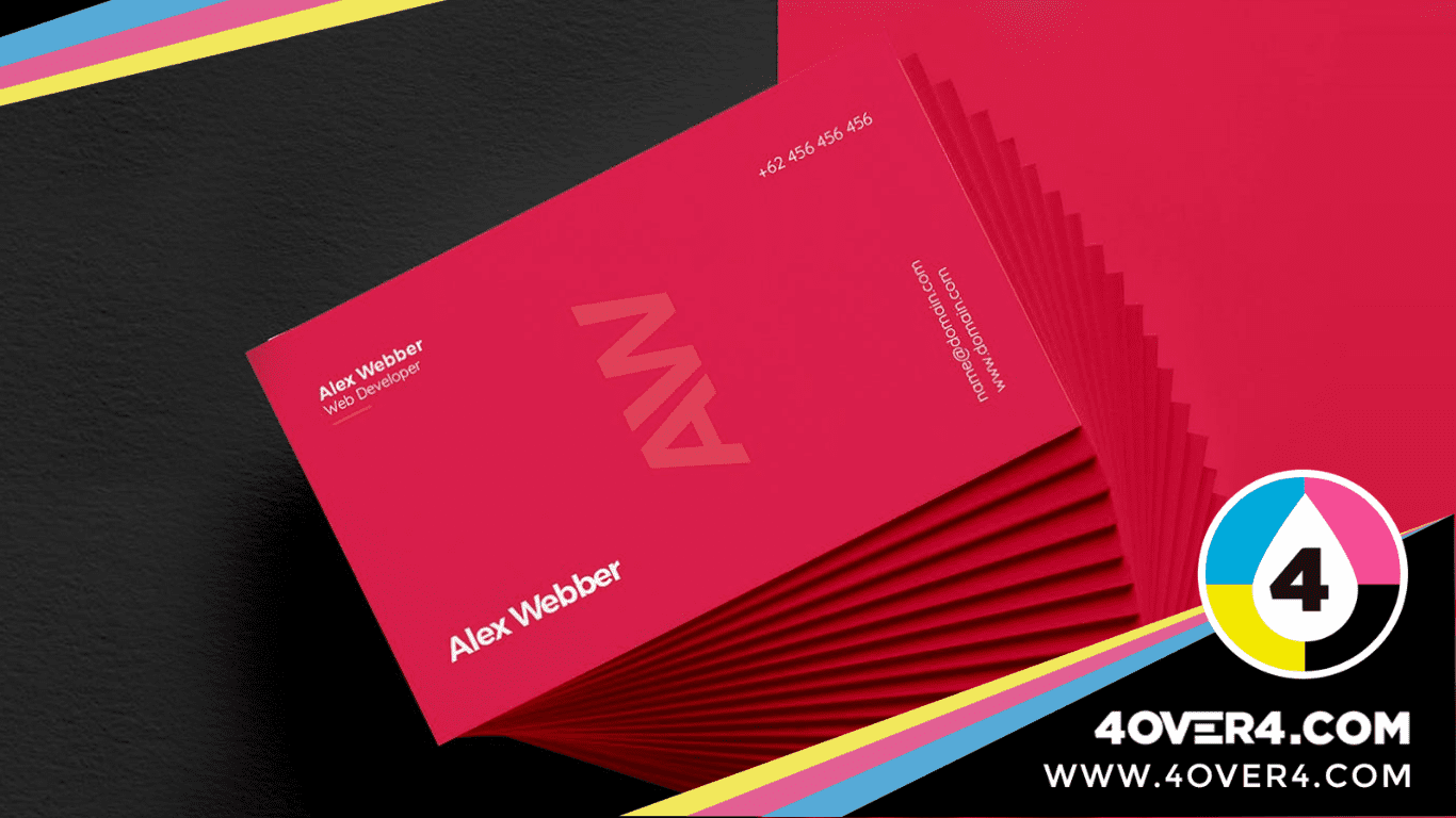 Vibrant red color card