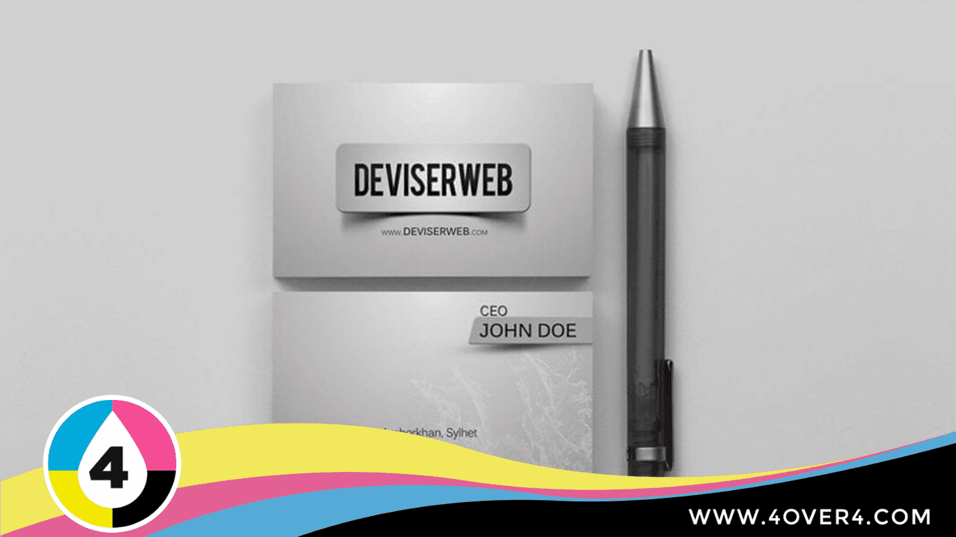 C Suite Executive visiting card and pen