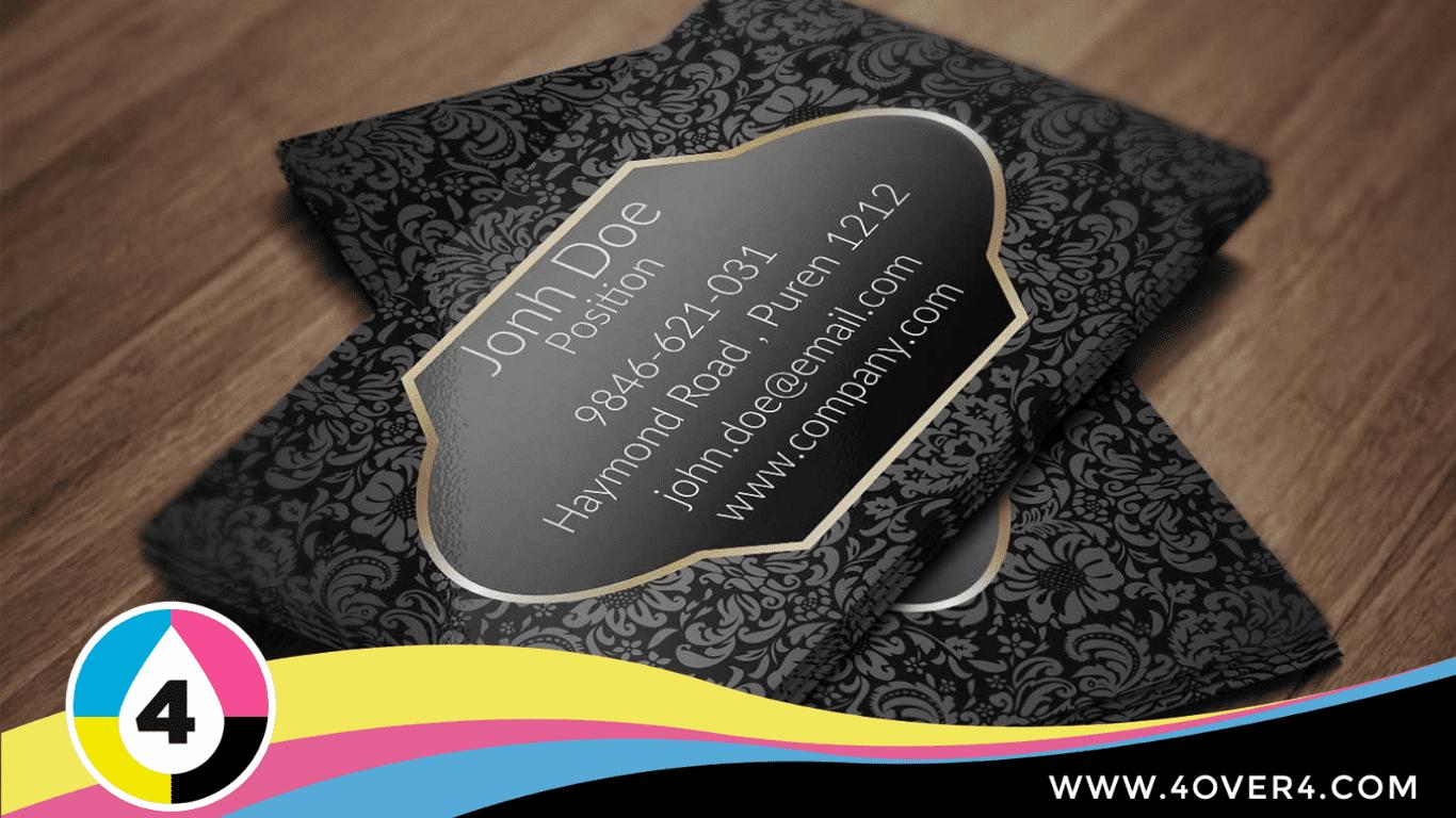 Vintage black and golden premium-quality visiting card