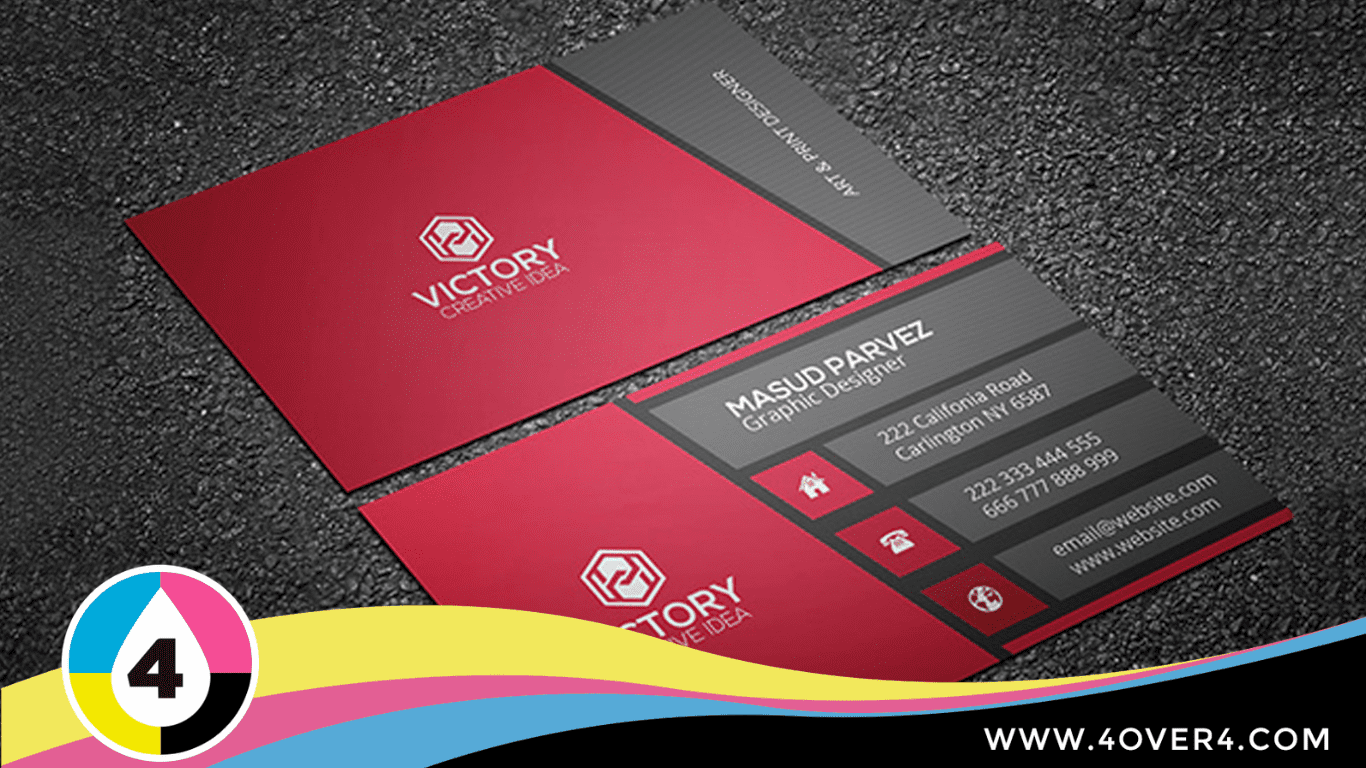 aroma-corporate-style-business-card-in-black-and-maroon-color