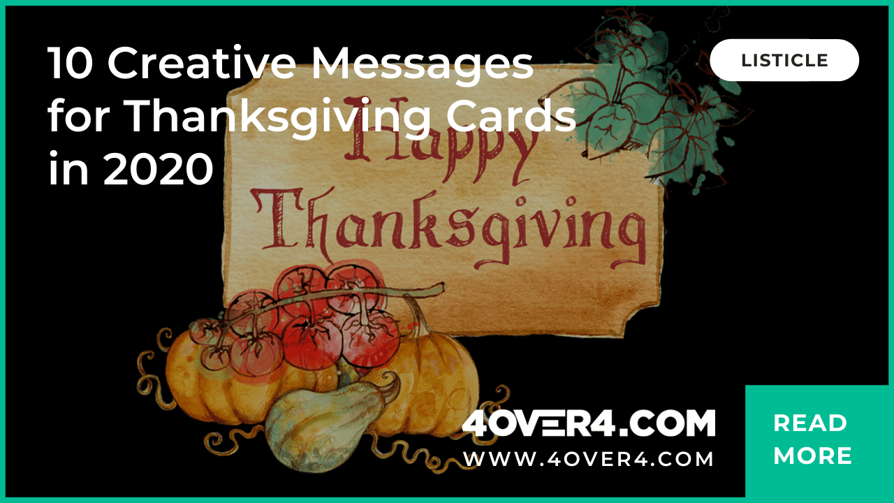 10 Creative Messages For Thanksgiving Cards In 2020 - Thanksgiving