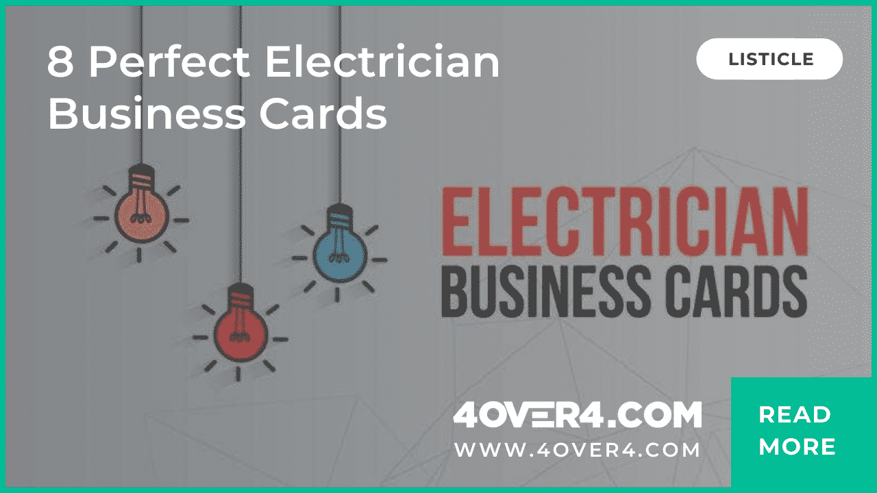 8 Perfect Electrician Business Cards - Business Cards