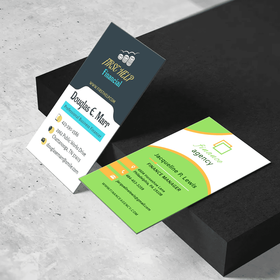 Business & Finance 2″ x 3.5″ Business Cards Templates