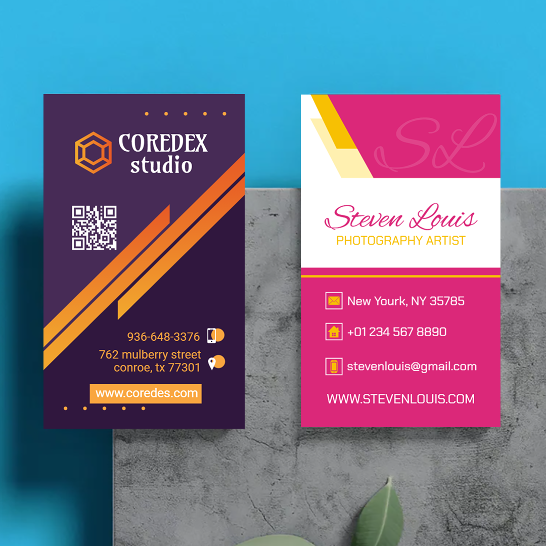 Photography 2″ x 3.5″ Business Cards Templates
