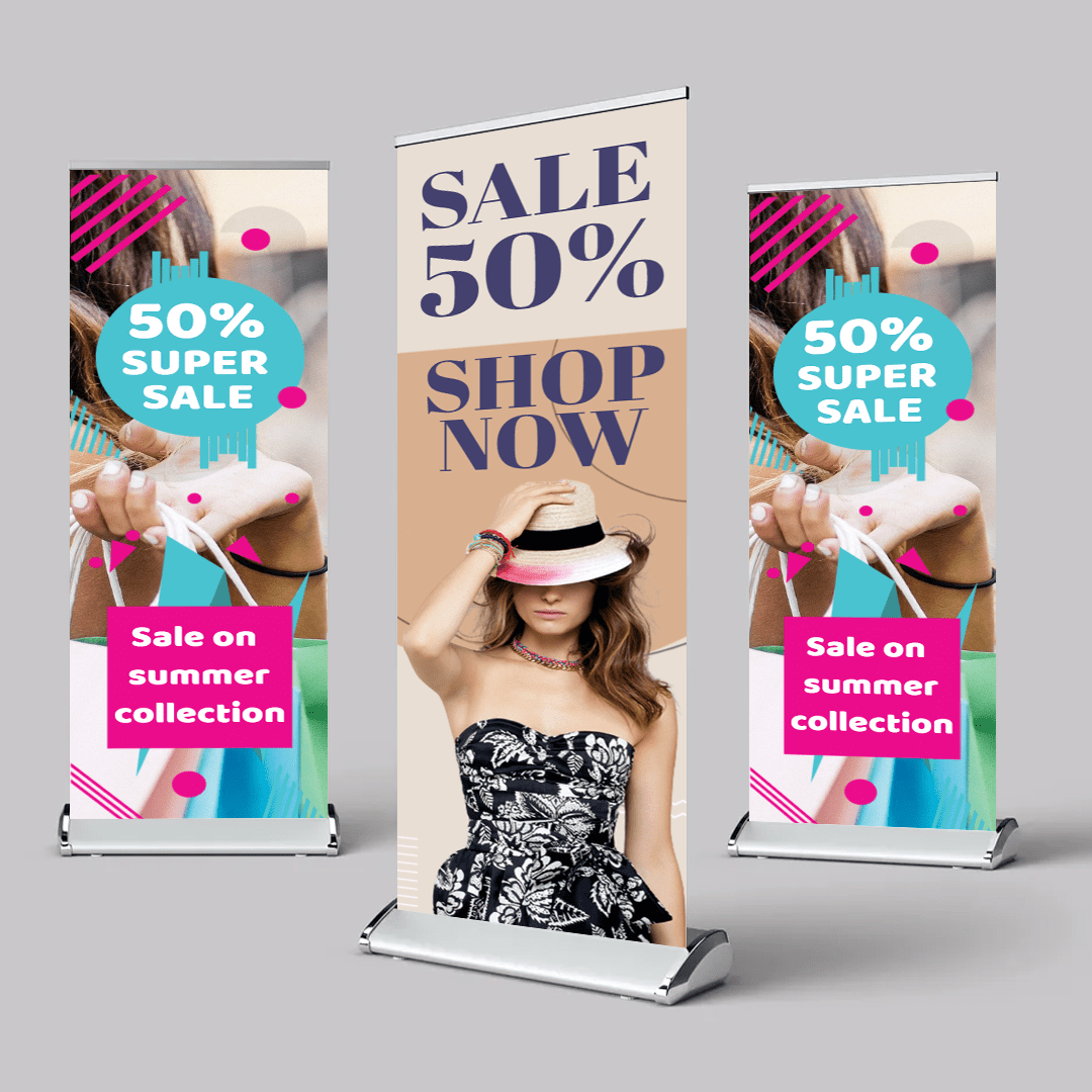 """24"""" x 79"""" Retractable Banners Templates -"""