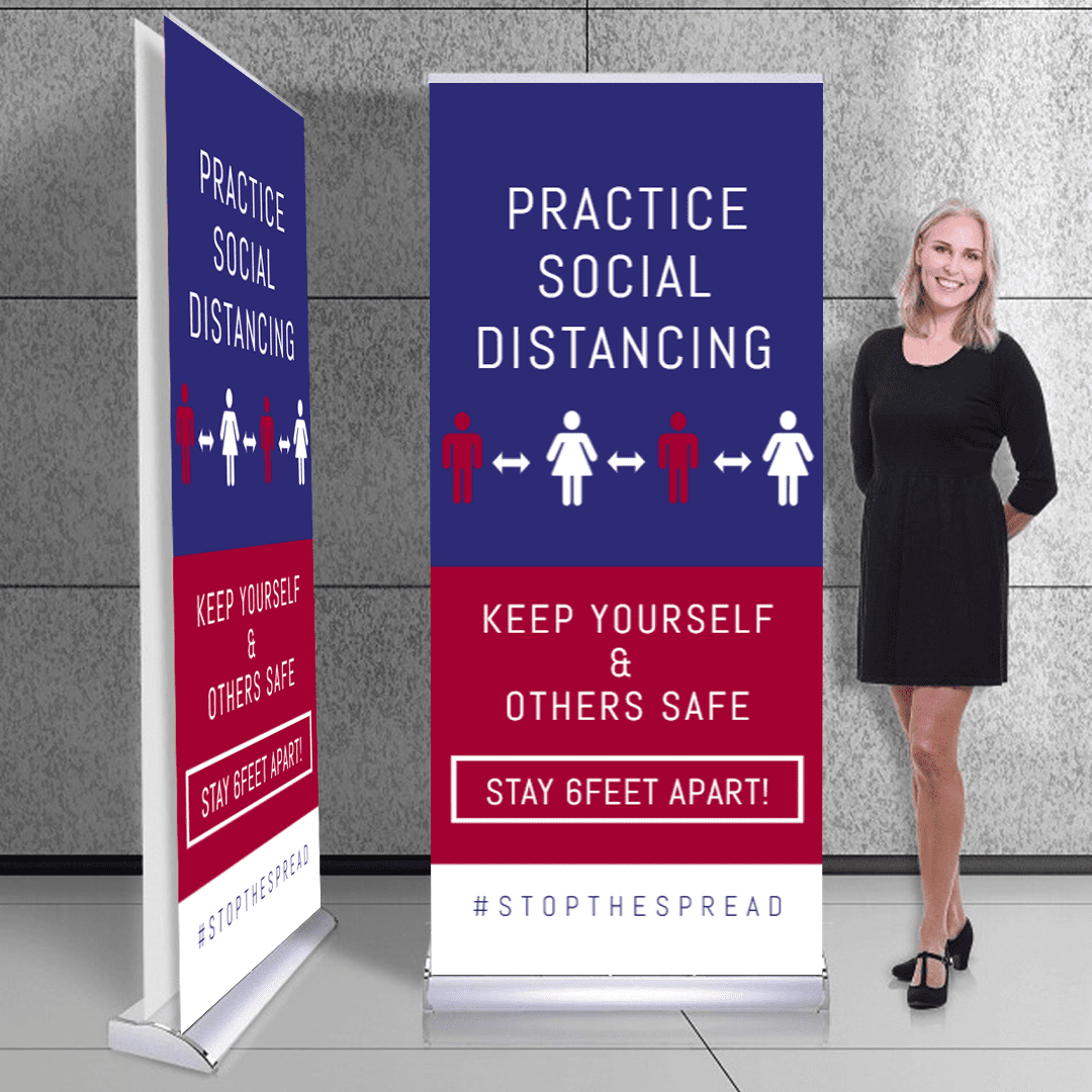 """47"""" x 79"""" Retractable Banners Templates -"""
