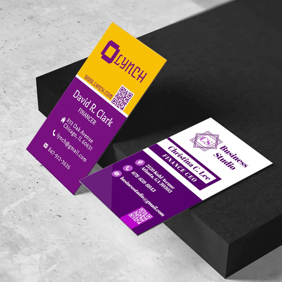 """Business & Finance 2"""" x 3.5"""" Business Cards Templates -"""