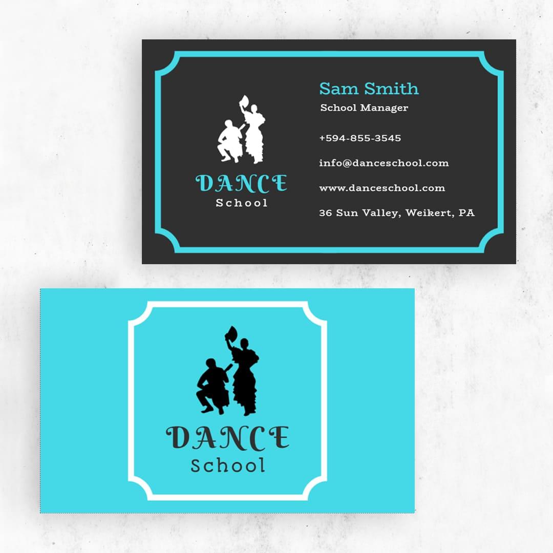 "Dance & Gymnastics 3.5"" x 2"" Business Cards Templates -"
