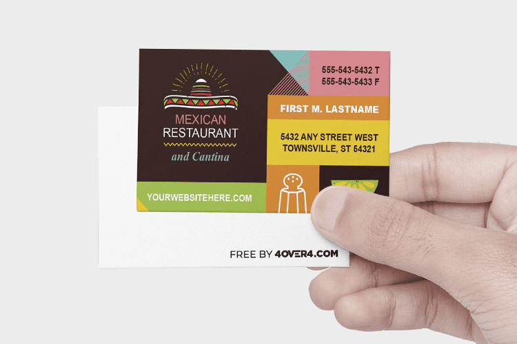 """3.5"""" x 2"""" Free Business Cards Templates -"""