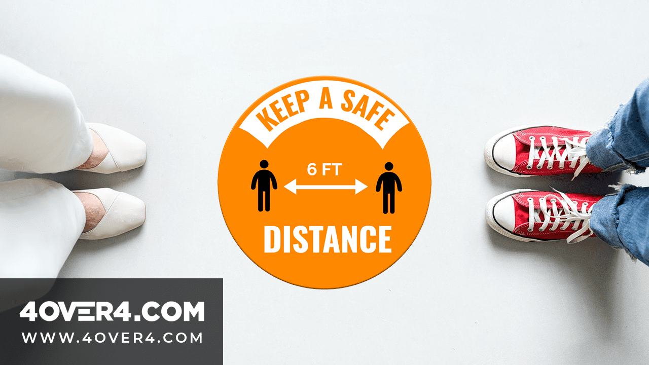 Best Long Lasting Social Distancing Decals for Small Businesses